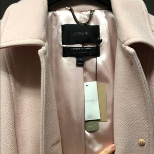 Jcrew Double Cloth coat with Thinsulate light pink